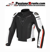 Jacket Sports Racing Motorcycle Dainese Super Speed Tex Black White Red