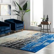 Nuloom Abstract Modern Area Rug Multi In Blue | 4.5 Star Reviews