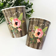 500pk Floral Themed Party Cups Bridal Shower Wedding Party Decorations