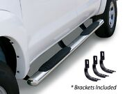 Steel Cab Length Side Step Nerf Bar Complete Kit For Gmc Canyon Crew Cab Pickup