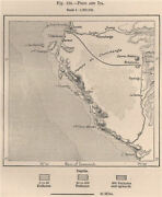 Pisco And Ica. Peru 1885 Old Antique Vintage Map Plan Chart