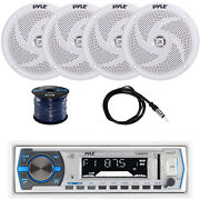 Bluetooth Marine Stereo W/pyle Speaker System Ekmr2 Antenna And Enrock Spkr Wire