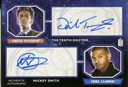 Doctor Who 2015 Dual Autograph Card David Tennant And Noel Clarke