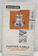 1958 Porter Cable Power Tools Fold Out Brochure Bits Cutters Routers Accessories
