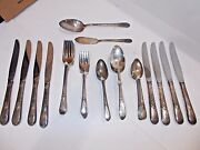 1847 Rogers Bros Is Silverplate 48 Pc-8 Plc Set- Adoration Pattern-1930and039s