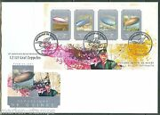 Guinea 2014 85th Anniversary Of Graf Zeppelin Round The World Flt Sheet Fdc