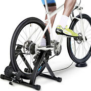 Magnetic Turbo Trainer Bike Trainer Stand For Road/mountain Bicycle Black Indoor