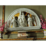 Renaissance Style Religious Madonna And Child Arch Wall Sculpture Replica Lunette