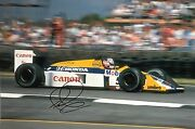 Nigel Mansell Hand Signed Canon Williams Renault 18x12 Photo F1 5.