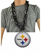 New Nfl Pittsburgh Steelers Black Jumbo Size Necklace Foam Magnet Made Usa