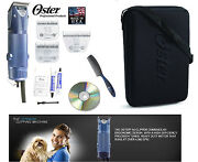 Oster Turbo A5 2 Speed Clipper 10,5fand10 Wide Blade,case,dvd,comb Dog,sheep,horse