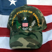 United States Of America Eagle Hat Cap Us Army Marines Navy Air Force Uscg Camo