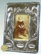 Sterling Silver - Edwardian Style Photo / Picture Frame - 6 1/2 Tall - Sf122