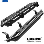 Tyger Star Armor Black Side Step Nerf Bars Fit 2007-2021 Tundra Double Cab