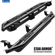 Tyger Star Armor Black Side Step Nerf Bars Fit 2005-2021 Tacoma Double Cab
