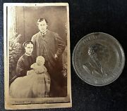 1863 Of Wales And Alexandra Marriage Medal And Photo Image Of Family