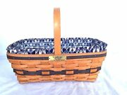 Longaberger 1993 Jw Large Easter Basket Combo Signed By Wendy And Jerry Full Size