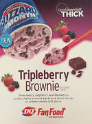 Dairy Queen Tripleberry Brownie Promotional Sign