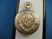 Antique Elgin 14k Rose Yellow And Green Gold Pocket Watch Hunting Case 37.8 Grams