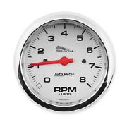 Auto Meter 8000 Rpm Tachometer - 3 3/8in. Standard Tach With Silver Face - 19302