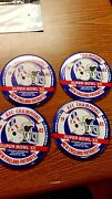 Nfl New England Patriots Lot Of 4 1985 Superbowl Xx Button Pins Great Condition