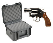 Skb Waterproof Plastic Gun Case Smith And Wesson 10 Six Shot 38 Special Revolver