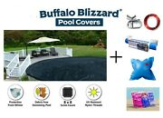 Buffalo Blizzard 18and039 Round Deluxe Above Ground Swimming Pool Winter Cover Kit