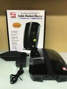Zoom 8x4 Cable Modem Plus N300 Wireless Gigabit Router Docsis 3.0 O2