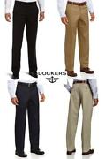 Dockers Men's Pants Classic Fit Flat Front Iron Free Casual Dress Pant New All