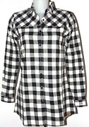 Discount 40 Pennrich By Woolrich Womenand039s Shirt Flannel Check Great White Black