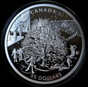 2006 Canada 50 .9999 Pure Silver Proof - Four Seasons By Royal Canadian Mint