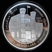 2008 Canada 50 .9999 Pure Silver Proof - 100th Anniv. Of Royal Canadian Mint