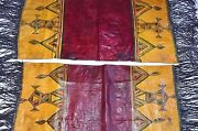 Antique Tuareg Adafor Tent Cushions Painted Goat Leather Pillowcases Mali Africa