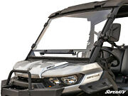 Superatv Scratch Resistant Vented Full Windshield For Can-am Defender 2016+