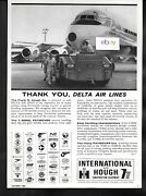 Delta Air Lines Dc-8 Jet 1965 International-hough T-300sl Paymover Tractor Ad