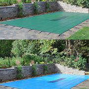 Gli Valuex Green Or Blue Solid Swimming Pool Safety Winter Cover W/ Drain