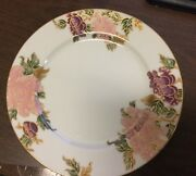 10 Fitz And Floyd Cloisonne Peony White Dinner Plates 10 1/4