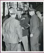 1950 Germany General Burrgess And Thomas Handy Eucom 8x10 Original Press Photo