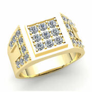 Genuine 3ctw Round Cut Diamond Mens Pave Engagement Pinky Ring 10k Gold J Si2