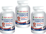 3 X 200 Tablets Cabot Health Magnesium Complete Reduces Stress Healthy Sleep