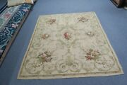 Vintage Aubusson European Woven Tapestry Rug Very Fine 57 X 64