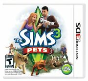The Sims 3 Pets - Nintendo 3ds [puppies Kitties Dogs Cats Life Simulator] New