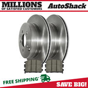 Rear Disc Brake Rotors And Performance Ceramic Pads Kit For Chevy Equinox 3.4l V6
