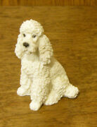 Castagna Mini Dog Figurines 369b White Poodle, Made In Italy, New/box