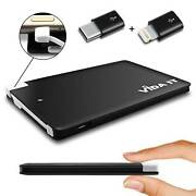 Portable Credit Card Sized Power Bank 2500mah Travel External Battery Charger