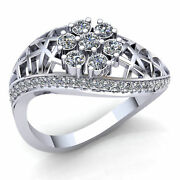 Genuine 1.5ct Round Cut Diamond Mens Personalized Vintage Fancy Ring 14k Gold