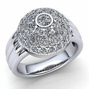 2ct Round Brilliant Cut Diamond Womenand039s Cluster Fancy Engagement Ring 14k Gold