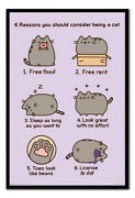 Pusheen 6 Reasons To Be A Cat Poster Magnetic Notice Board Inc Magnets