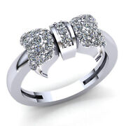 Natural 1carat Round Diamond Ladies Personalized Butterfly Fancy Ring 14k Gold