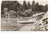 1940s Rppc Postcard Of Numerous People On Beach At Rio Nido Russian River Ca